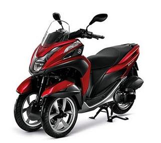 Yamaha Tricity สีแดง-ดำ 2014