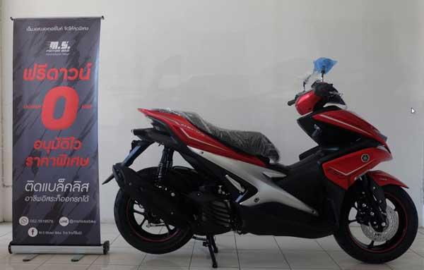 2017-Aerox155cc สีแดง
