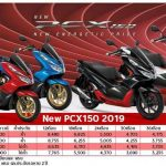 New PCX  ราคา 2019 ตารางใหม่ ผ่อนดาวน์