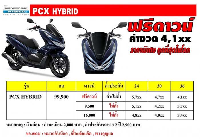 HONDA PCX Hybrid ฟรีดาวน์